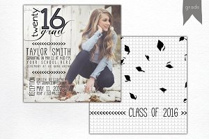 GRADUATION | announcement template