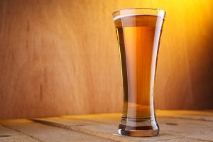 Vase beer glass