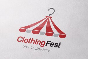 Clothing Festival Logo Template