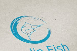 Marlin Fish Logo