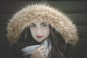 Young girl in winter