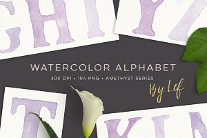 Watercolour Painted Alphabet Clipart
