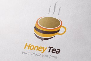 Honey Tea Logo Template