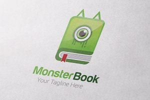 Monster Book Logo Template