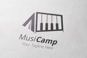 Music Camp Logo Template