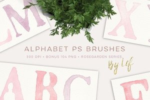 Photoshop Brushes Alphabet Painted