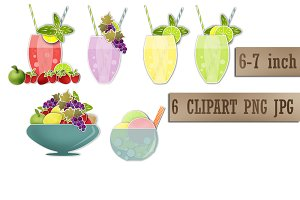 Summer Fresh Coctails Juice Clipart