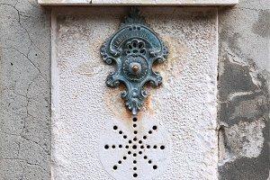 Traditional doorbell in Venice