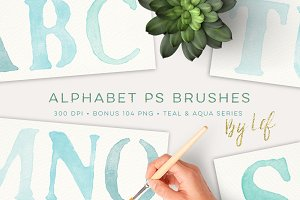 Photoshop Brushes Painted Alphabet