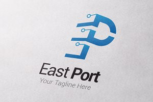 East Port Letter E&P Logo Template