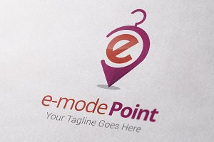 E-Mode Point Logo Template