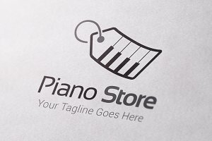 Piano Store Logo Template
