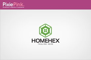 Home Hex Logo Template