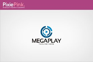 Mega Play Logo Template