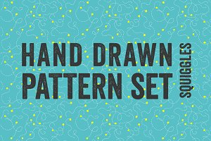 3 Seamless Squiggle Patterns