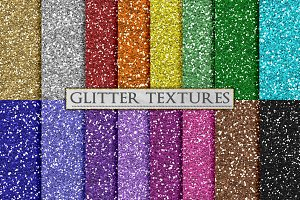Silver and Gold Glitter Textures