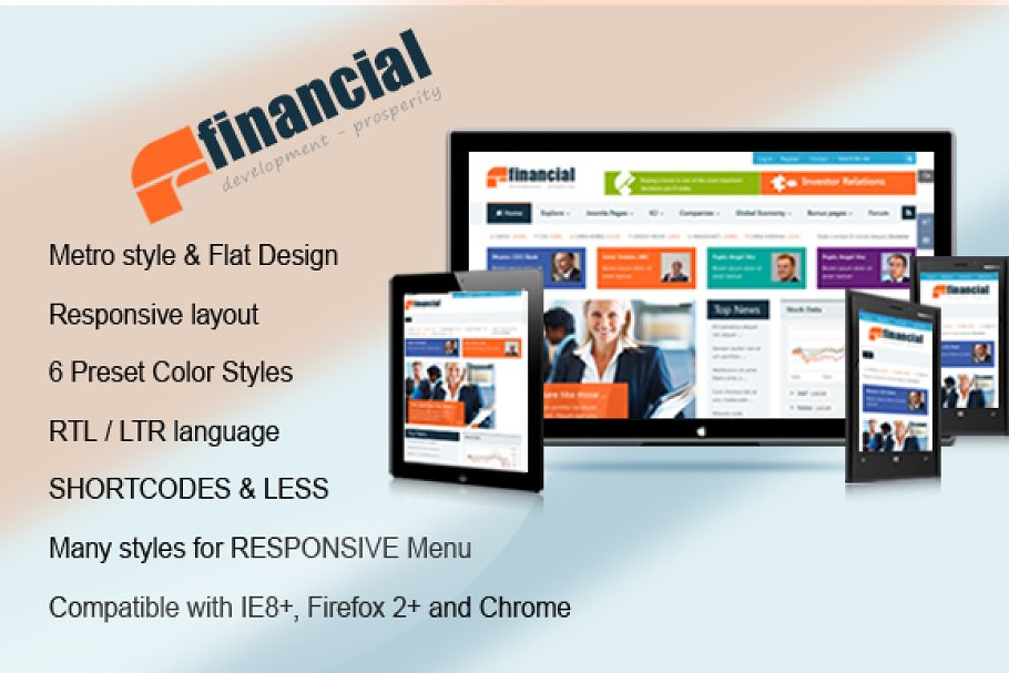 SJ Financial with Kunena supported ~ Joomla Themes