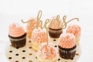 Pink Cupcake Cheers