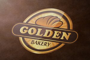 Golden Bakery Logo Template