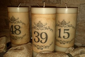 Vintage Wedding Candle Numbers