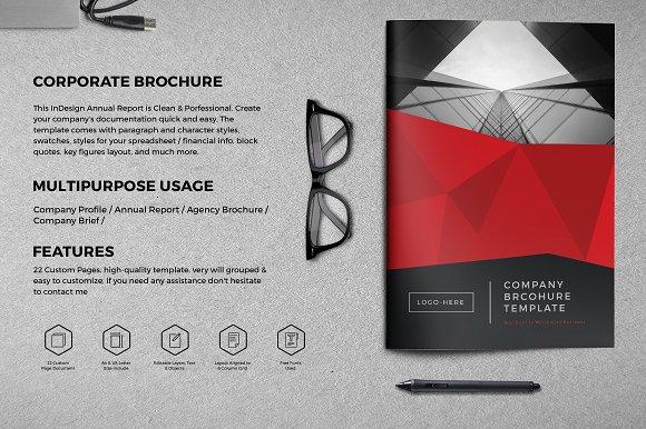 Company brochure 22 page brochure templates creative market company brochure 22 page brochures pronofoot35fo Gallery