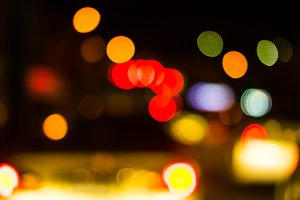 Abstract traffic night light