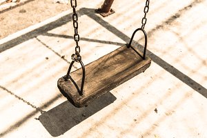 Empty chain swing.