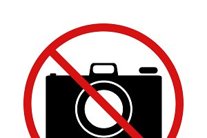 """No photo"" forbidden sign"