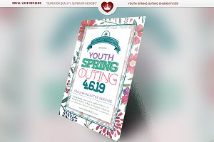 Youth Spring Outing Church Flyer