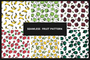 6 Seamless fruit pattern