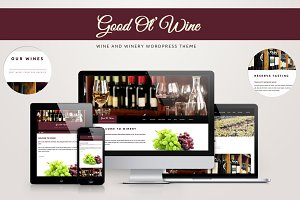 Good Ol' Wine - Wine WordPress Theme