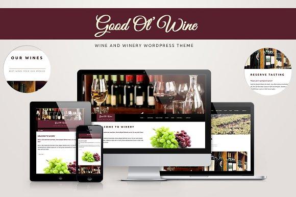 Good Ol' Wine - Wine WordPress Theme