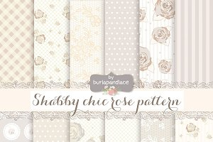 Shabby Chic Rose, Beige, Champagne