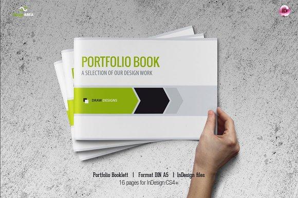 Portfolio Booklet DIN A Brochure Templates Creative Market - A5 brochure template