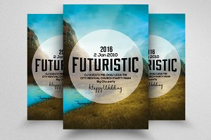 New Futuristic Party Flyer Template