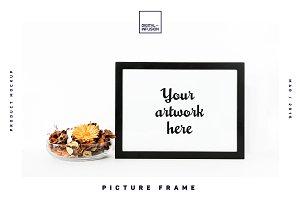 3 Picture Frames Mockup