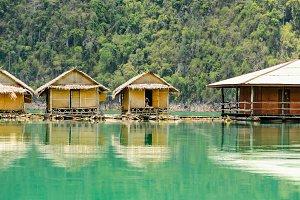 Bungalow bamboo floating