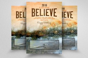 Faith Believe Church Poster Flyer