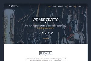 Crafto - One Page HTML theme 30% off