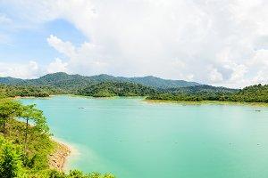 Mountain and lake at Ratchapapha