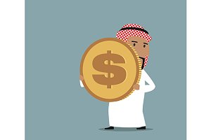 Cartoon arabian businessman