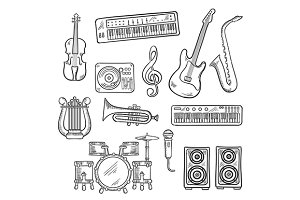 Musical instruments and items