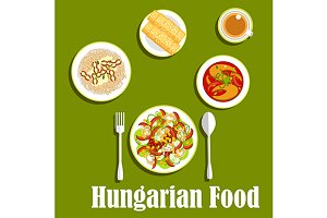 Hungarian cuisine dinner