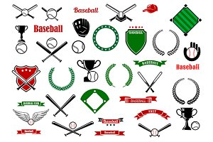 Baseball game sport items