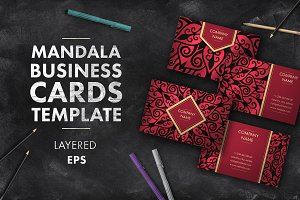 Mandala business card 003