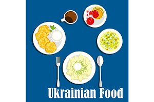 Dishes of ukrainian cuisine