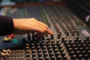 Sound Technician in studio