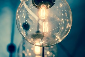 Retro Edison light lamp
