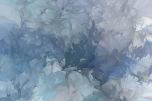 Muted Blues Abstract Painting