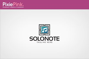Solo Note Logo Template